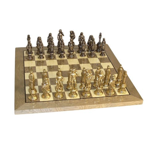 Florence Chess SetWith Grey Briar Board - Multicolored - 1.25 X 13.25 X 13.25 inches