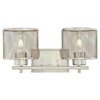 "Westinghouse 6327700 Morrison 2 Light 16-3/4"" Wide Bathroom Vanity Light - Brushed nickel"