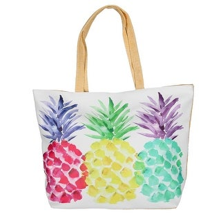 CTM® Women's Pineapple Print Tote Bag - One size