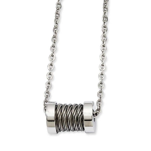 Stainless Steel Wire Barrel 24in Necklace (2 mm) - 24 in