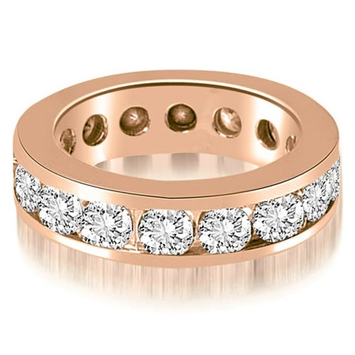 3.40 cttw. 14K Rose Gold Round Channel Eternity Ring