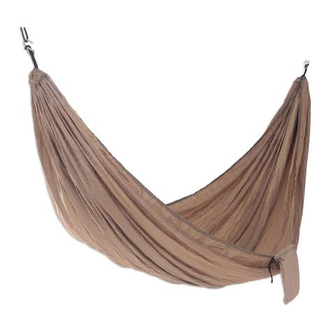 Parachute hammock, 'Uluwatu Tan' (single)