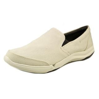 Teva Wander Slip-on Men Round Toe Canvas White Loafer