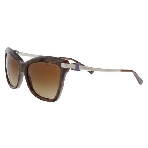 Michael Kors MK2027 318513 Audrina III Pearl/Brown Cat Eye Sunglasses - 56-16-140