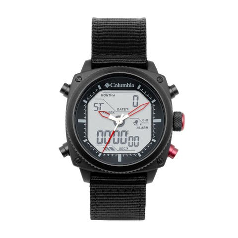Columbia Ridge Runner Analog-Digital Black Nylon Watch - Digital