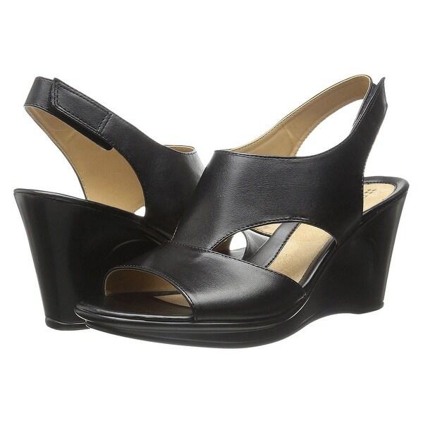 Naturalizer Womens Orrin Leather Open Toe Casual Platform Sandals