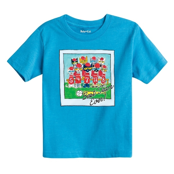 Pete The Cat Best Team Ever Adult - Toddler Short Sleeve Tee