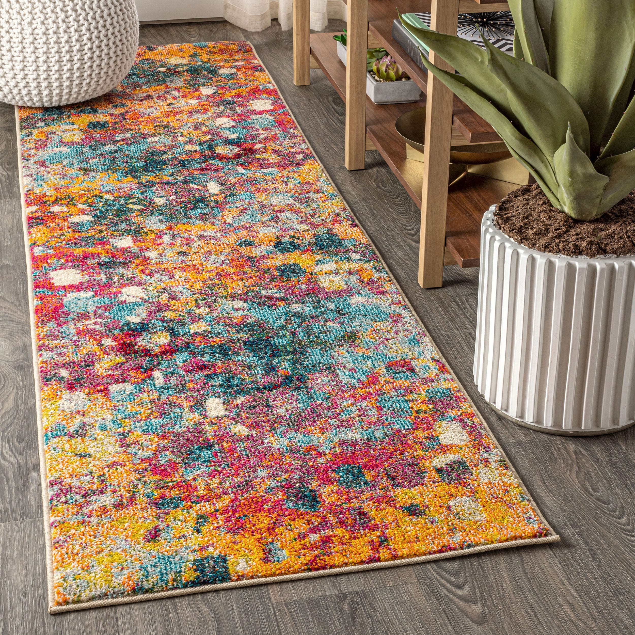 Picture of: Contemporary Pop Modern Abstract Multi Yellow Area Rug On Sale Overstock 27416355