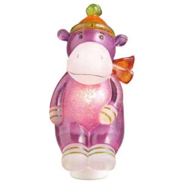 "5.5"" Genuine Monkeez and Friends Purple Harold Hippo Children's Night Light"
