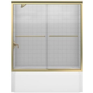 "Kohler K-702200-L Fluence frameless bypass bath door with Crystal Clear Glass - 58-5/16"" H x 59-5/8"" W"