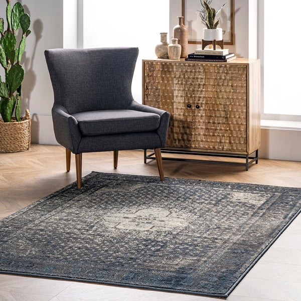 nuLOOM Traditional Distressed Oriental Area Rug. Opens flyout.