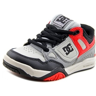 DC Shoes Stag 2 Youth  Round Toe Leather Gray Skate Shoe