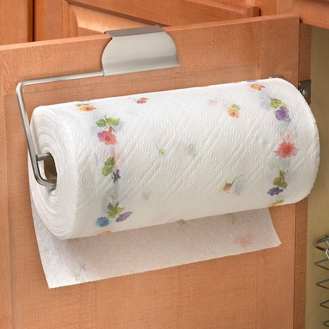Spectrum 76771 Over-The-Cabinet/Drawer Paper Towel Holder, Brushed Nickel