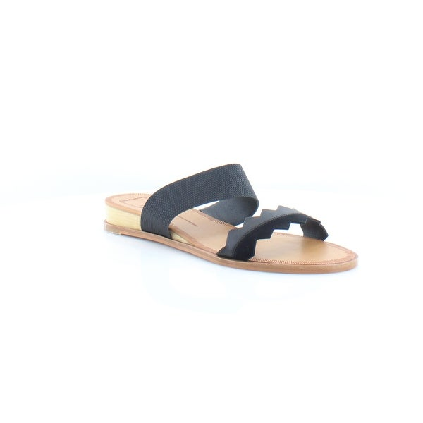 Dolce Vita Pacer Women's Sandals & Flip Flops Black Lizard Embossed