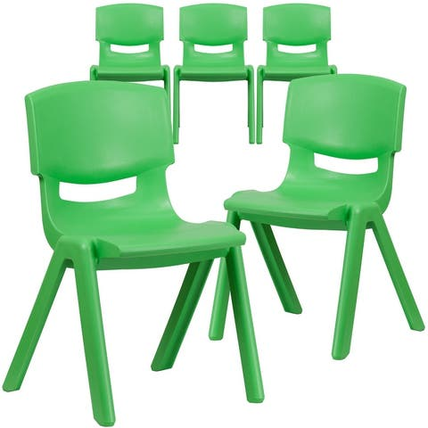 5 Pack Plastic Stackable School Chair with 15.5'' Seat Height