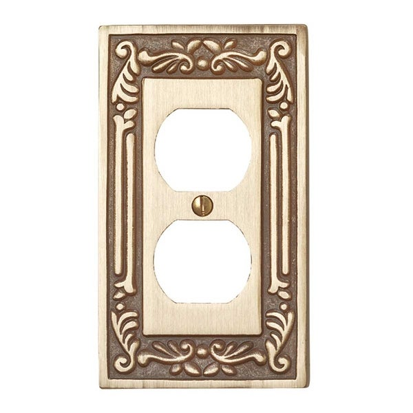 Shop Victorian Switch Plate Single Outlet Antique Solid Brass ...