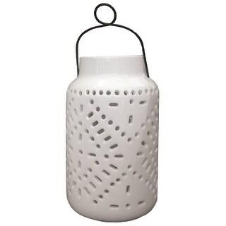"Smart Solar 3903MRM1 Tangier Large Solar Ceramic Lantern, 11"" Tall"