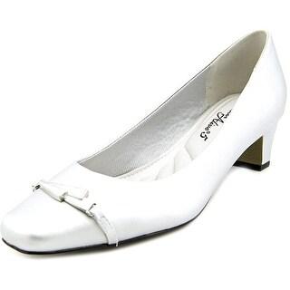 Easy Street Venture Women W Square Toe Synthetic Silver Heels