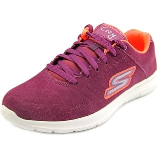 Skechers Go Walk City - Challenger Round Toe Suede Walking Shoe