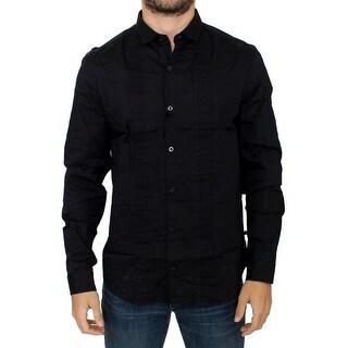 Costume National Black cotton slim fit shirt