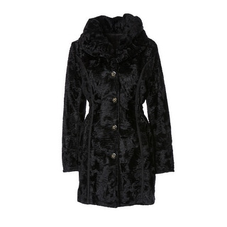 Laundry By Shelli Segal Reversible Persian Faux Lamb Fur Coat - XS