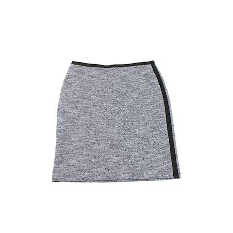 Calvin Klein Graphite Marled Contrast-Trim Knit Pencil Skirt 4