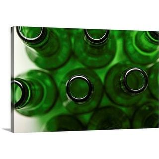"""""""Green bottles"""" Canvas Wall Art"""