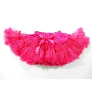 Hot Pink Chiffon Petti Tutu Skirt Girls S-XL