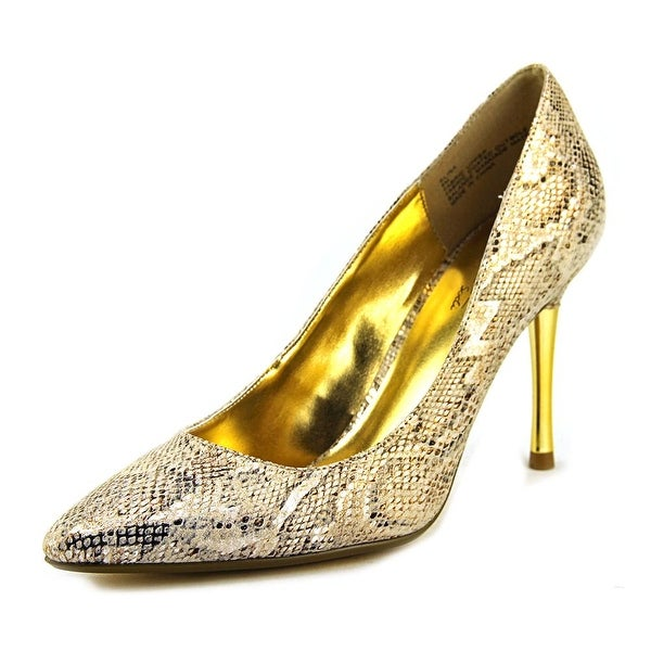 Thalia Sodi Elina Women Pointed Toe Synthetic Gold Heels