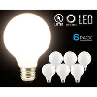 1 PACK LED Dimmable G25 Globe Light Bulbs, 5W (60W Equiv.) Warm White Ambiance Pro