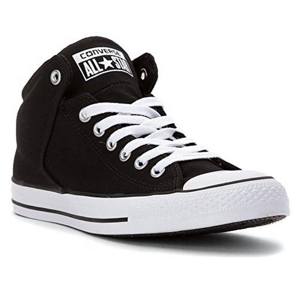 Converse Unisex Chuck Taylor All Star High Street, Black/Black/White - 7.5