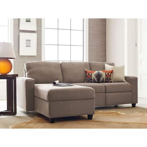 """Serta Palisades Reclining 89"""" Sectional with Left Storage Chaise"""