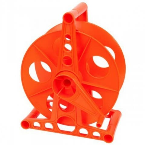 Bayco K-100 Cord Storage Reel with Stand, Holds Up To 150' Cord, Orange