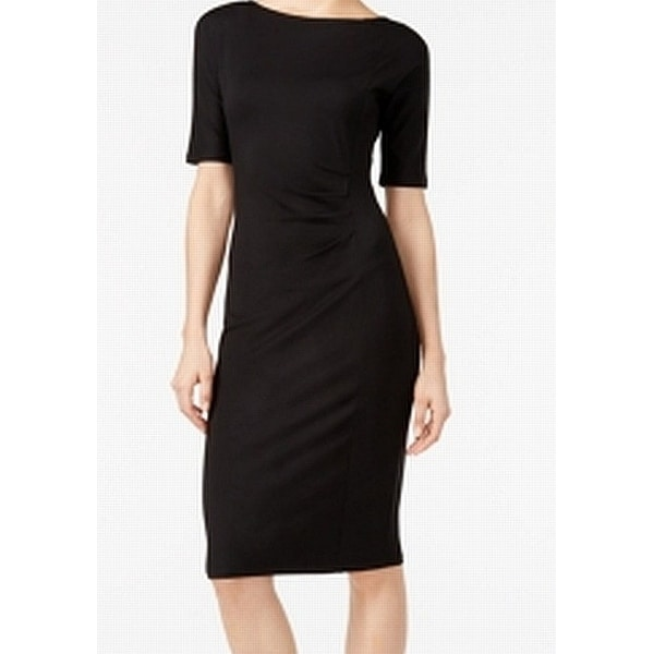 City Chic Black Women's Size Large L Side Ruched Sheath Dress