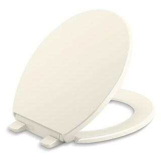 Kohler K-20111 Brevia Round-Front Quiet-Close Toilet Seat - White - N/A
