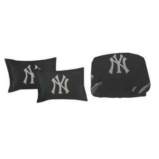 Officially Licensed New York Yankees Full Size Comforter With 2 Shams - navy