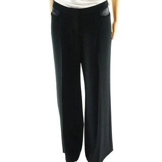 Rafaella NEW Black Women's Size 8 Classic Wide Leg Flare Dress Pants