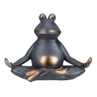 """12"""" Frog Sitting In a Lotus Yoga Position Garden Statue"""