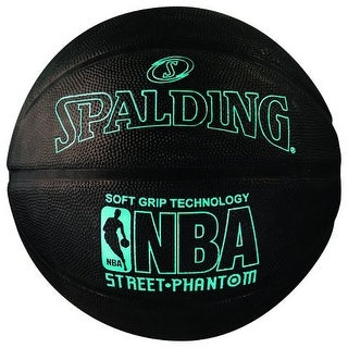 "Spalding NBA Street Phantom Outdoor Basketball (Neon Blue/Black - 29.5"")"