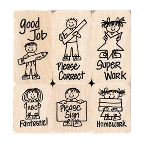 Big 'n' Little Hero Kids For Teachers Stamps, Set of 6 - One Size