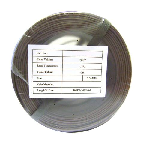 Offex Security and Alarm Wire, Brown, 22/2 (22AWG 2 Conductor), Stranded, CMR / In-wall Rated, Coil Pack, 500 Feet