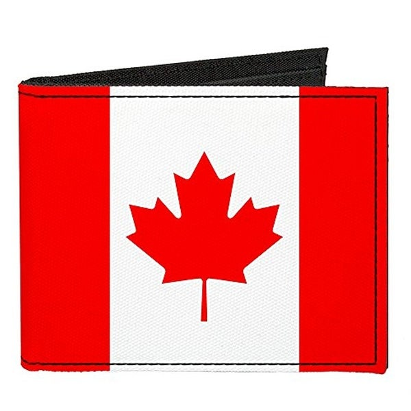 Buckle-Down Canvas Bi-fold Wallet - Canada Flag Accessory