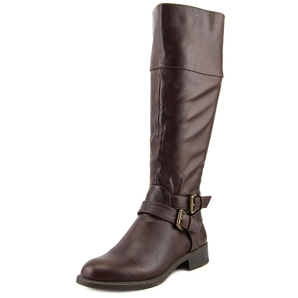 Nine West Leora Women  Round Toe Leather Brown Knee High Boot