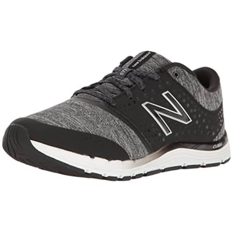 New Balance Women's WX577V4 CUSH + Training Shoe,Black/Heather, 10 B US