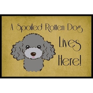Carolines Treasures BB1507MAT Silver Gray Poodle Spoiled Dog Lives Here Indoor & Outdoor Mat 18 x 27 in.