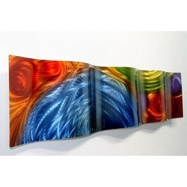 Statements2000 Multicolor Metal Wall Art Accent Wave by Jon Allen - Elation Wave