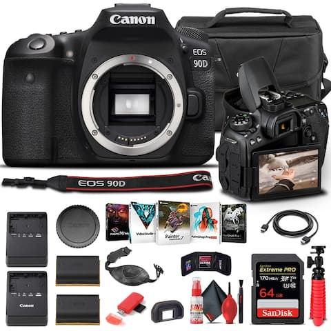 Canon EOS 90D DSLR Camera Body Only 3616C002 - Basic Bundle
