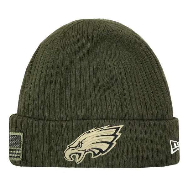 buy popular ff6b4 8b4e9 Shop New Era 2018 NFL Philadelphia Eagles Salute to Service Knit Hat  Stocking Beanie - Free Shipping On Orders Over  45 - Overstock - 23577493