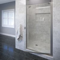 "Basco 3600-1CL Classic 66"" High x 25-1/8"" Wide Pivot Framed Shower Door with Clear Glass"