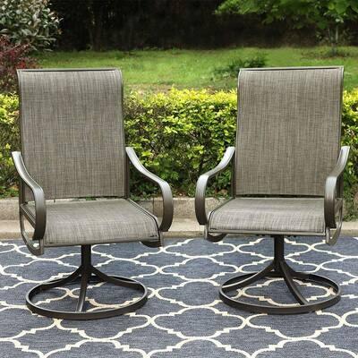 MFSTUDIO Swivel and Rocker Patio Bistro Chairs
